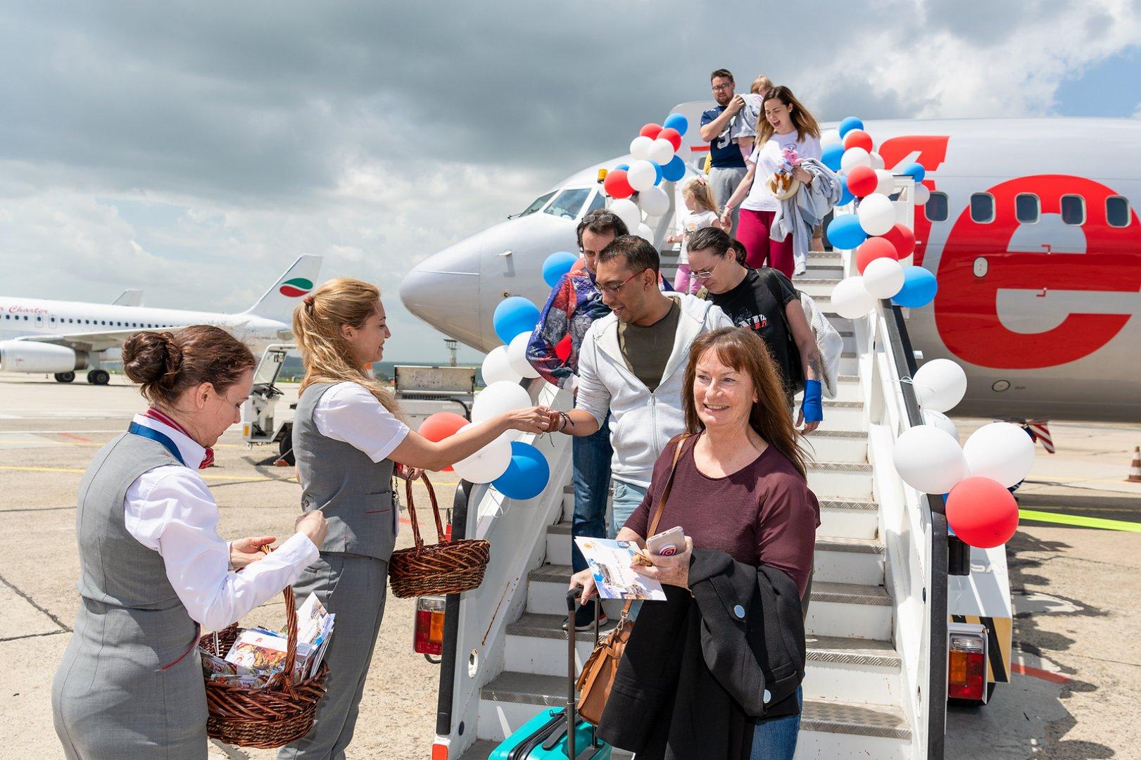 Самолет на Jet2 извърши първият си полет до Летище Бургас
