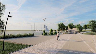 Така ще изглежда комплекса след реализация на проекта. Визуализации Община Бургад