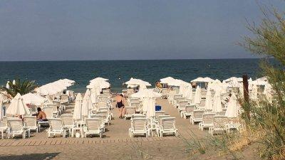 Морето изхвърли на този плаж трупа на мъжа. Снимка Черноморие-бг