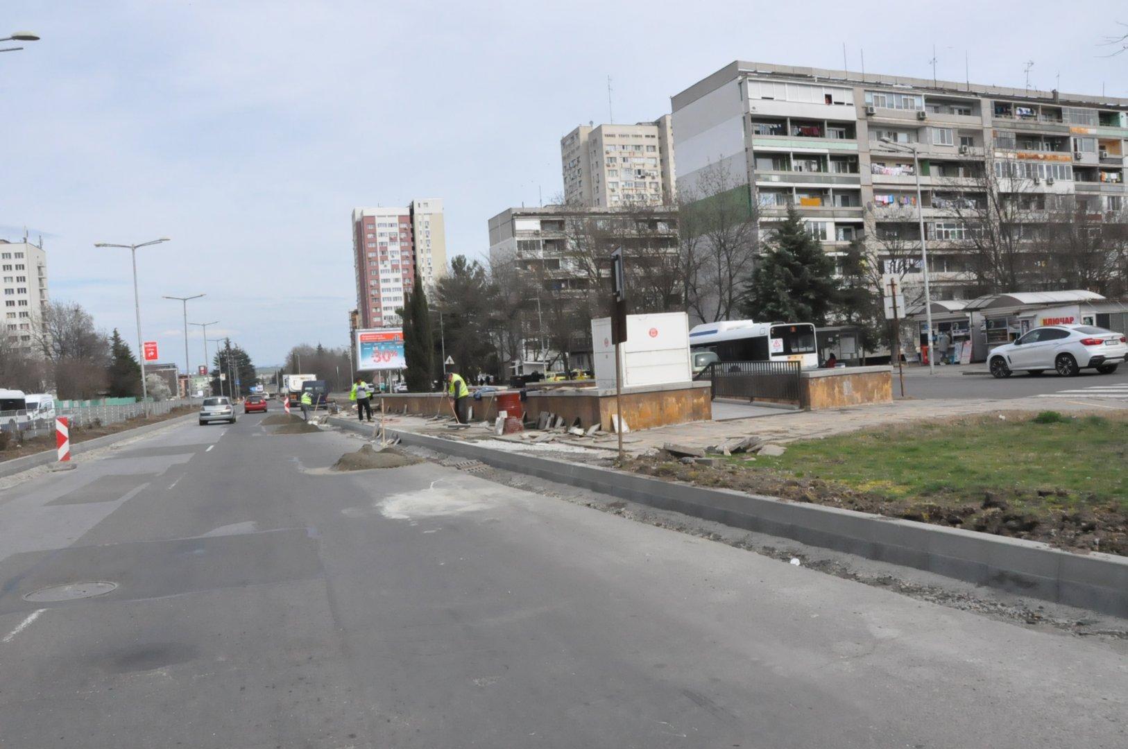 Булевардъте част от южния обход на Бургас. Снимка Община Бургас