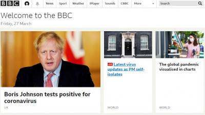 Британското издание BBC оповести новината, че премиерът на страната е болен от корона вирус