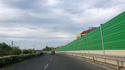 Тази стена е изградена по време на първия етап на проекта. Снимка Община Бургас