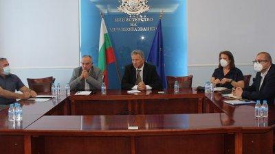 Срещата на здравния министър се състоя в министерството. Снимка Министерство на здравеопазването