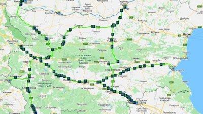 Картата е публикувана на сайта на агенция Пътна инфраструктура