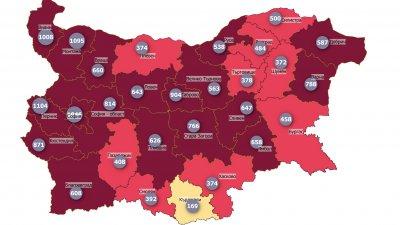 Област Бургас все още е в червената зона, според картата на НЦЗПБ