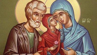 Архангел Гавриил възвестил на Йоаким и Анна, че ще им се роди дъщеря на име Мария