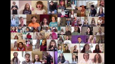 Децата от група Бон-Бон участват във видеото послучай 1-ви юни. Снимка Архив