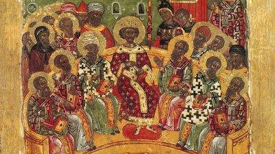 На днешния празник се събират всички светии в един ден, за да се знае, че те са живели и просияли със силата на Единия Спасител Иисус Христос