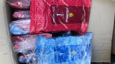 100-те кг. тютюн за наргиле и над 600-те кг. в бутилки хладилен газ били открити в автомобил с българска регистрация. Снимка пресцентър Агенция Митници
