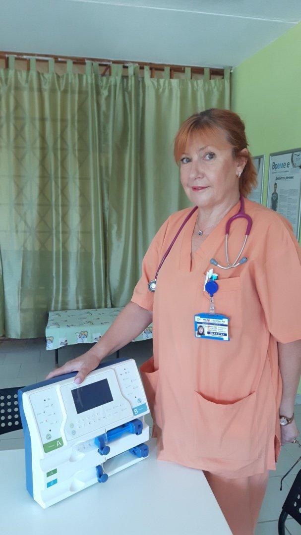 С апарата ще се лекуват малките пациенти във Второ детско отделение