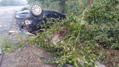 Инцидентът е станал тази сутрин край Росенец. Снимки ОД на МВР