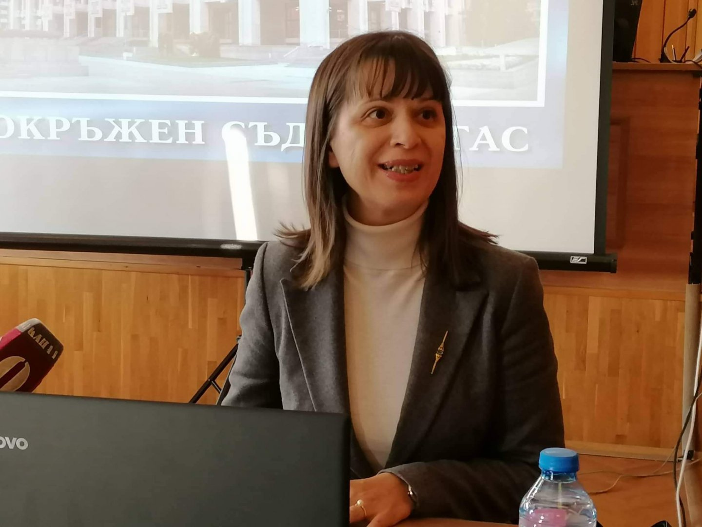 Докладът е изготвен от ръководителя на Съда Росица Темелкова. Снимка Архив Черноморие-бг