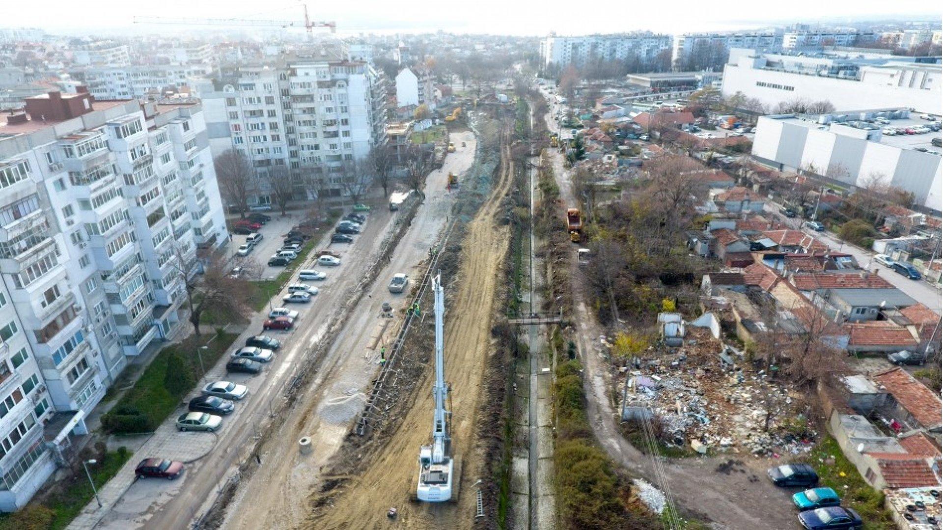 Новото трасе ще преразпредели движението във Варна. Снимки Пресцентър Община Варна