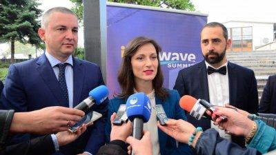 Мария Габриел заяви, че Варна се превръща в хъб за цифрово предприемачество. Снимка Пресцентър Община Варна