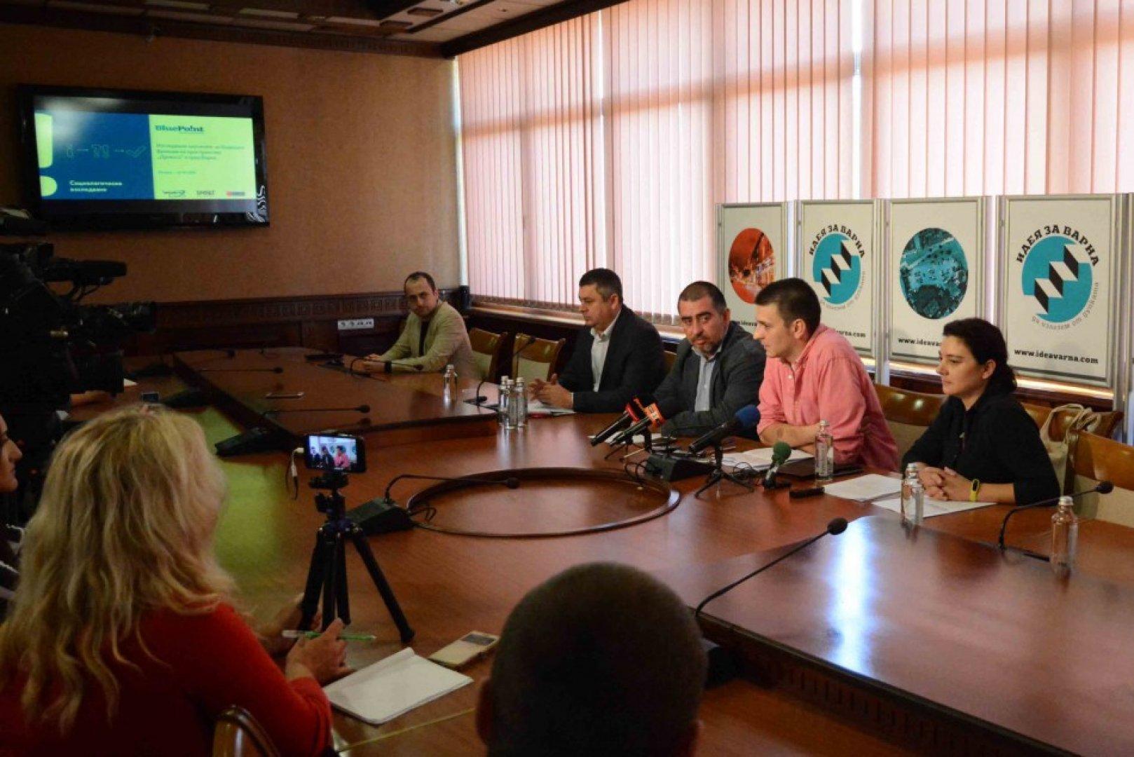 Резултатите от анкетата бяха представени пред медиите. Снимки Община Варна