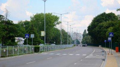 Две трети от пешеходните пътеки във Варна ас освежени. Снимка Община Варна