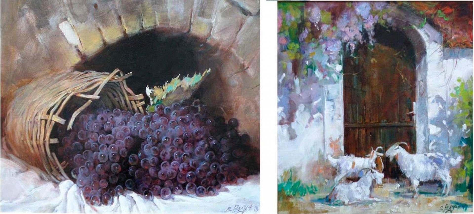 Художникът представя натюрморти и живописни платни